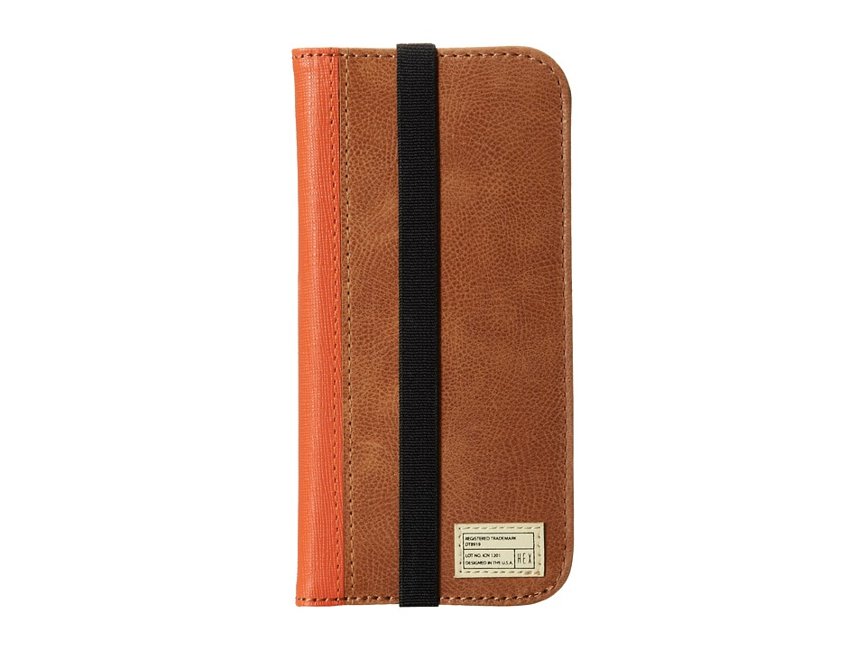 HEX - iPhone6/6S Icon Wallet (Distressed Brown Leather) Cell Phone Case