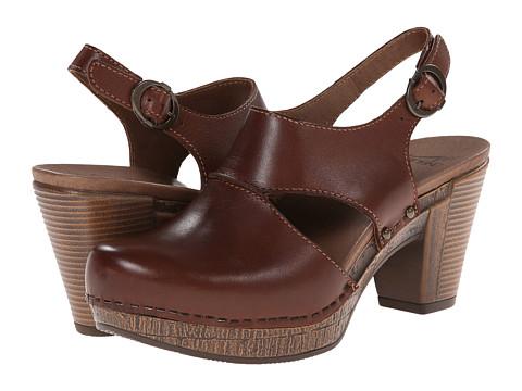 Dansko - Riley (Brandy Full Grain) Women's Clog Shoes