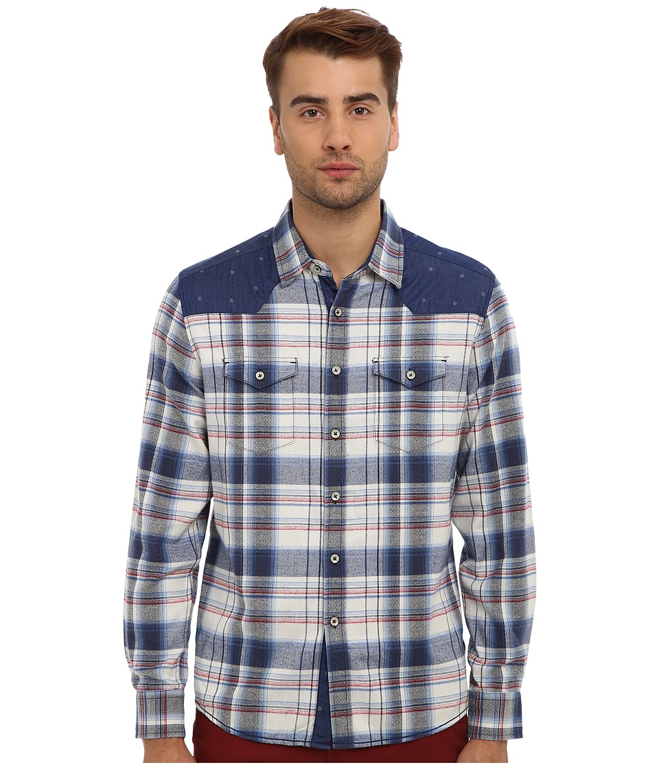 7 Diamonds Beyond The Sea L/S Shirt Blue Mens Long Sleeve Button Up