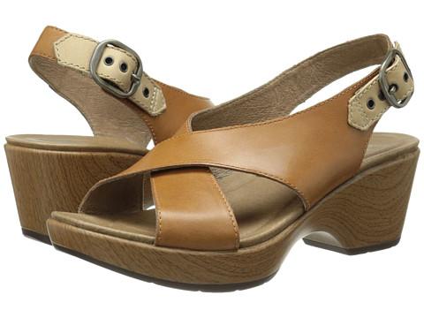 Dansko - Jacinda (Caramel Full Grain) Women's Sling Back Shoes