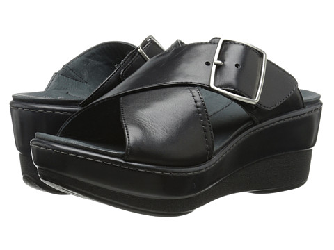 Dansko - Genna (Black Nappa Leather) Women's Slide Shoes