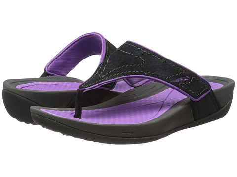 Dansko Katy (Black/Orchid Suede) Women's Sandals
