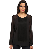 Vince Camuto - Long Sleeve Blouse w/ Front Fringe and Errb