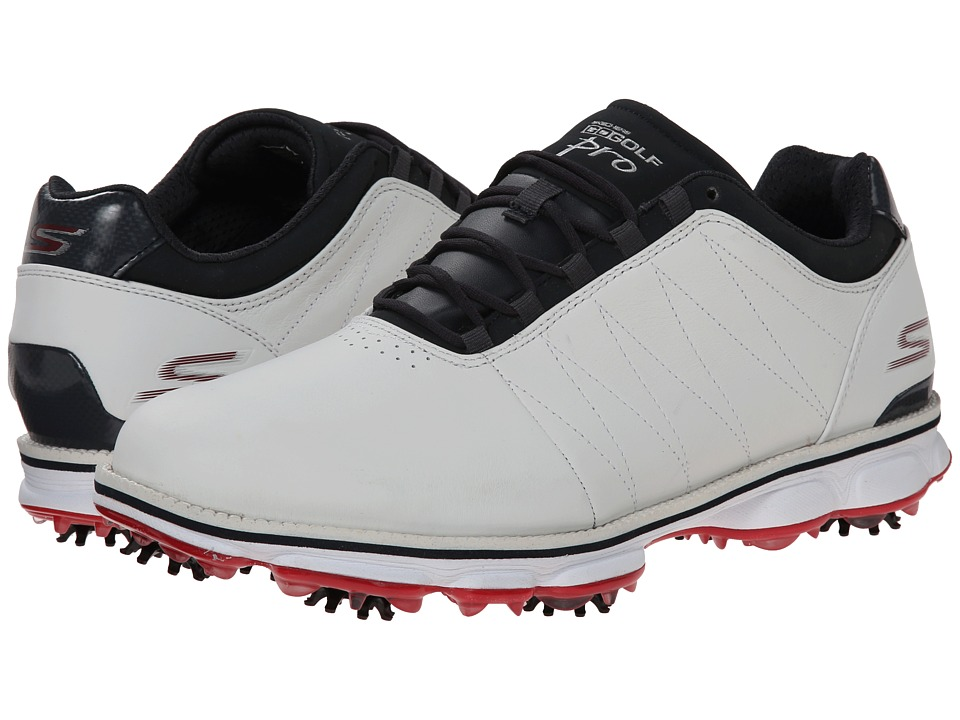 SKECHERS Performance Go Golf Pro White/Navy/Red Mens Golf Shoes
