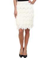 Vince Camuto - Pencil Skirt w/ Herringbone Tiered Fringe