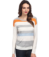 Vince Camuto - Long Sleeve Textured Novelty Stripe Sweater