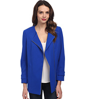 Vince Camuto - Collarless Asymmetrical Zip Coat