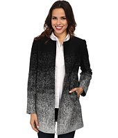 Vince Camuto - Long Sleeve Collarless Ombre Twill Coat