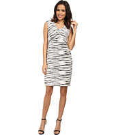 Vince Camuto - Linear Jacquard Cap Sleeve Dress