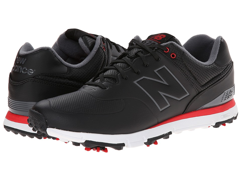 New Balance Golf NBG574 Black/Red Mens Golf Shoes