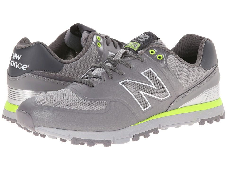 New Balance Golf NBG574B Grey/Yellow Mens Golf Shoes