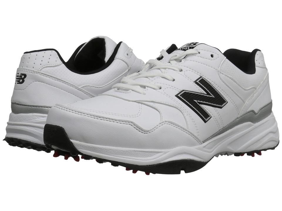 New Balance Golf NBG1701 White/Black Mens Golf Shoes
