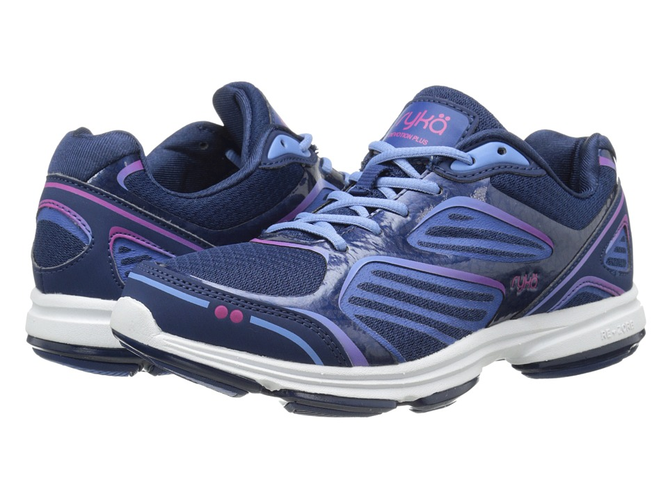 Ryka Devotion Plus Jet Ink Blue/Royal Blue/Elite Blue/Ryka Pink Womens Shoes