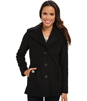 Calvin Klein - Single Breasted Wool Blend Peacoat CW387007