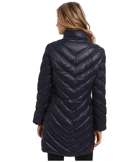 Calvin klein zip front long packable down jacket cw312100 6pm com