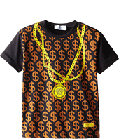 Versace Kids - S/S Tee w/ $$$$$$ and Chain Necklace Print (Toddle/Little Kids)