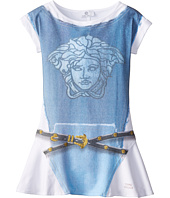 Versace Kids - S/S Dress w/ Graphic Print Denim and Belt (Big Kids)