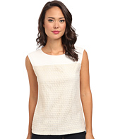 Calvin Klein - Grid Extended Shoulder Top