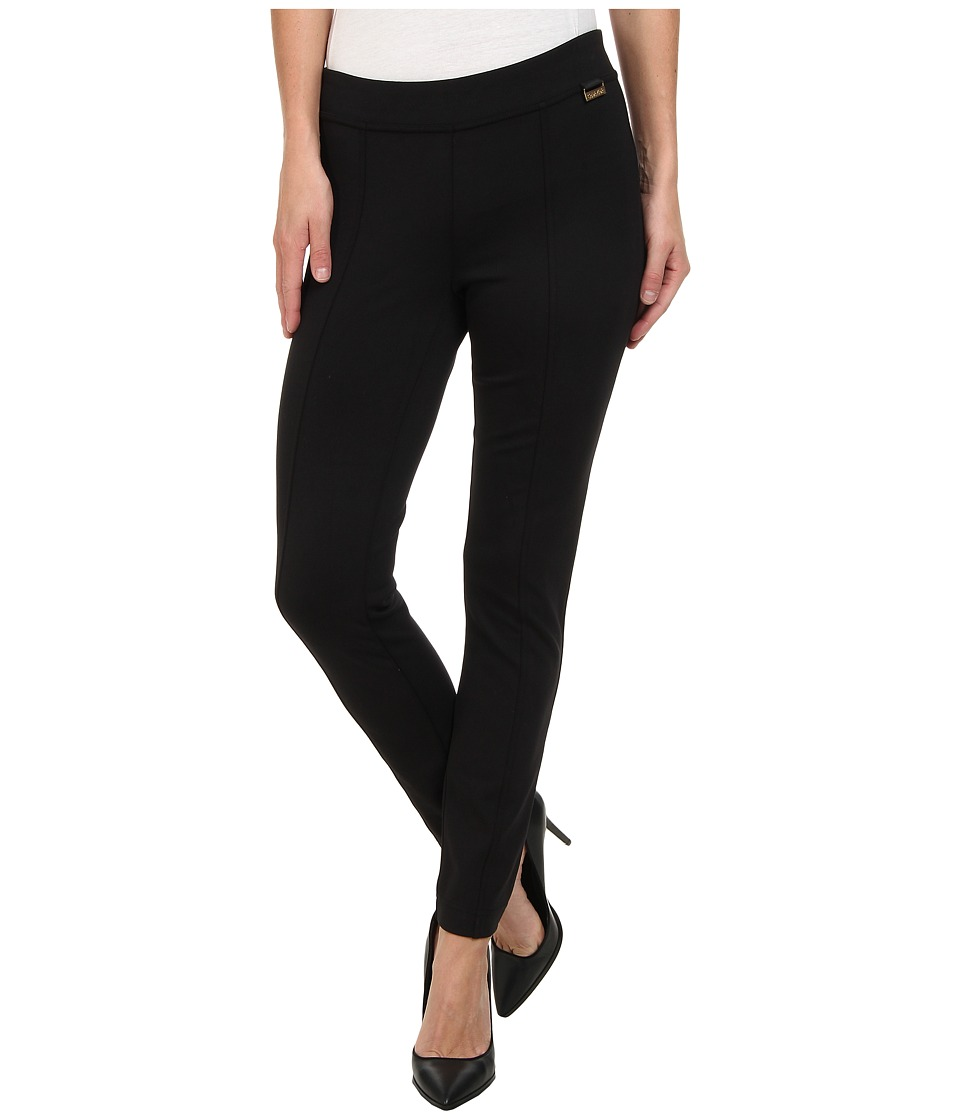 Calvin Klein - Front Seamed Pull On Pant (Black) Womens Casual Pants