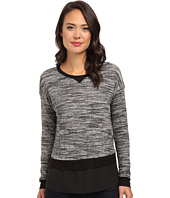 Calvin Klein - Long Sleeve Knit w/ Crepe De Chine Bottom