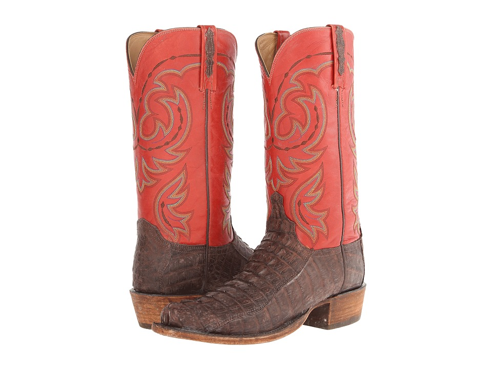Lucchese HL1010.73 (Sienna Hornback Tail/Brick Red) Cowboy Boots