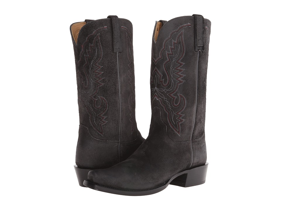 Lucchese HL1501.73 (Black Burnished) Cowboy Boots