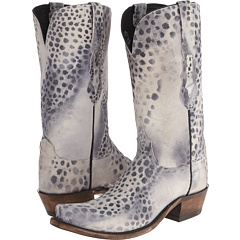 N9636.S53 (White/Grey/Black Cheetah) Cowboy Boots
