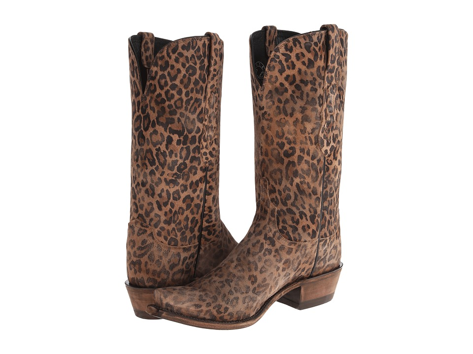 Lucchese N9634.S53 (Gold Brown Leopard) Cowboy Boots