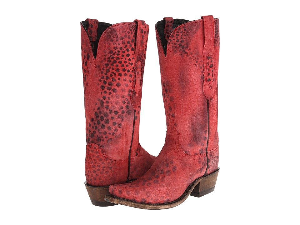 Lucchese N9635. S53 (Red Cheetah) Cowboy Boots