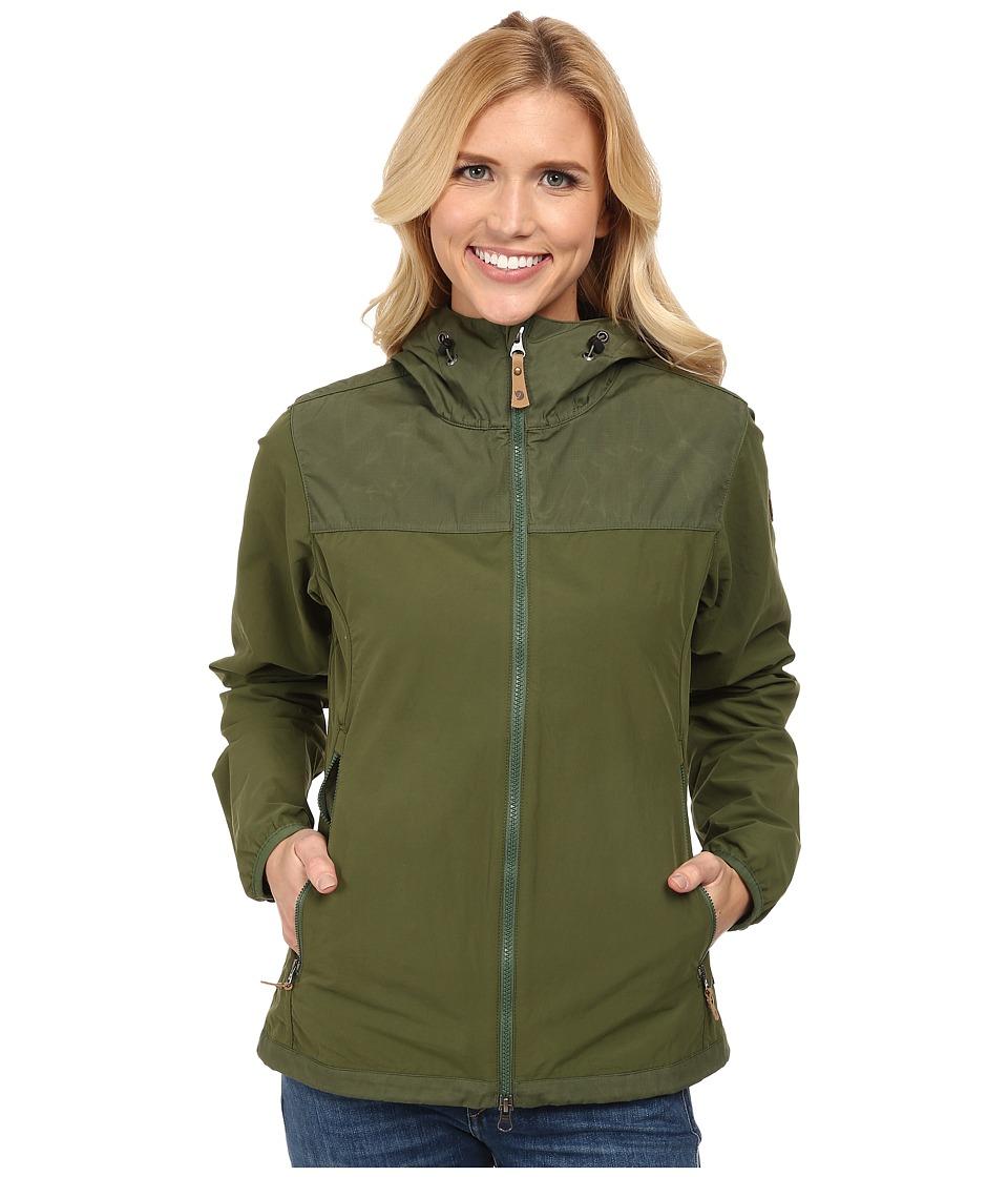 Fj llr ven Abisko Hybrid Jacket Pine Green/Pine Green Womens Coat