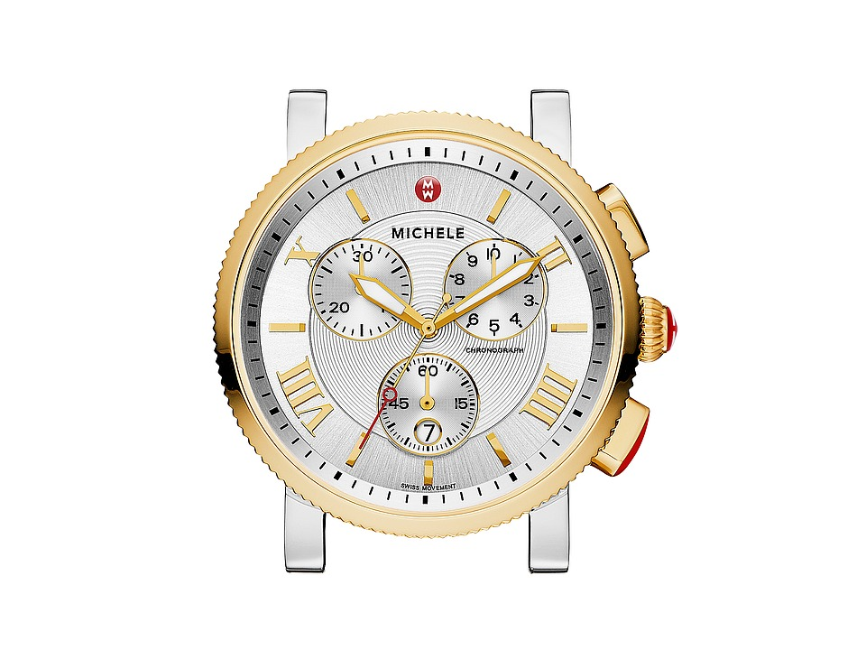 Michele Sport Sail Large Two Tone Watch Head Two Tone Gold Watches