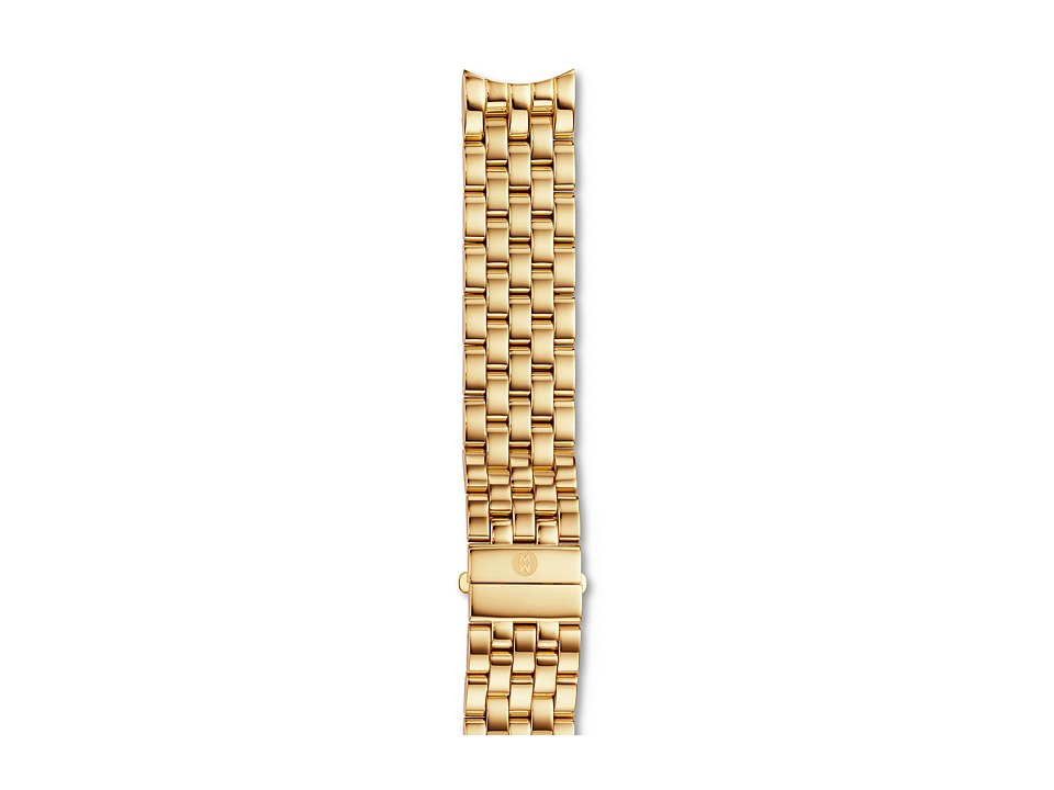 Michele Sport Sail Large Gold 5 Link Bracelet Gold Watches