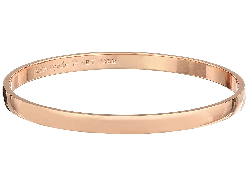 Kate Spade New York - Idiom Bangles Stop and Smell The Roses - Solid (Rose Gold) Bracelet