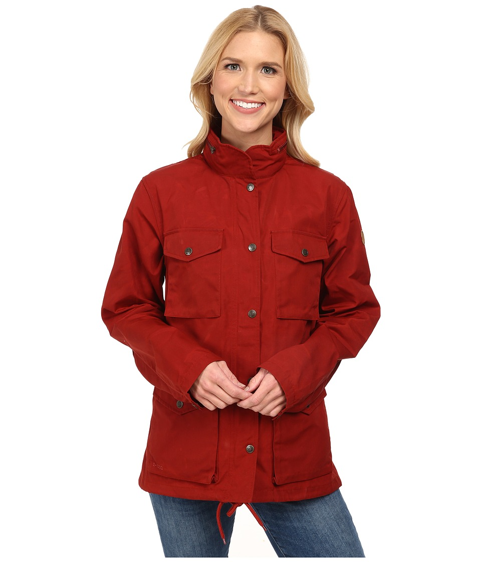 Fj llr ven Raven Jacket Deep Red Womens Coat
