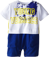 Versace Kids - Faux Two-Piece Romper w/ Logo Print (Infant)