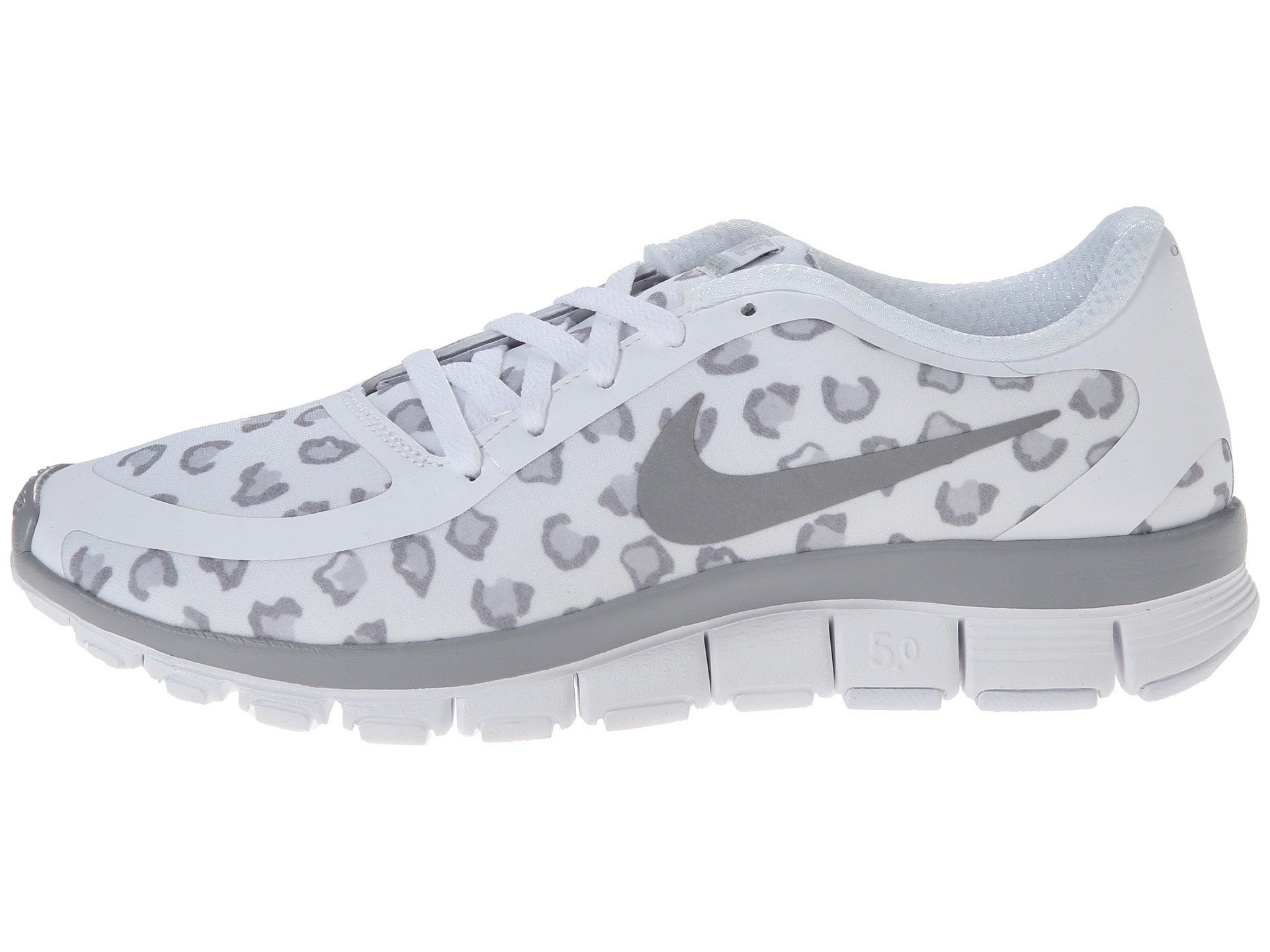 Nike Free 5.0 V4 Womens Cool Grey Pink White