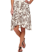 Vince Camuto - Side Zip Asymmetrical Flounce Floral Burst Skirt