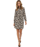 Vince Camuto - 3/4 Sleeve Animal Legacy Drawstring Dress