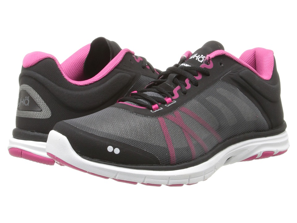Ryka Dynamic 2 Black/Ryka Pink/Iron Grey Womens Shoes
