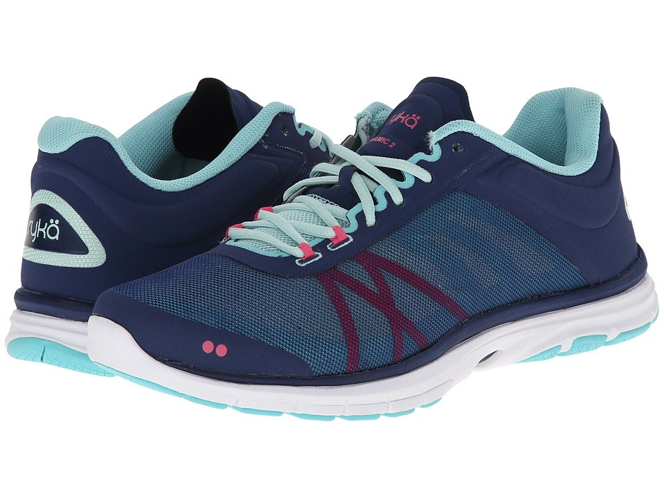 Ryka Dynamic 2 Jet Ink Blue/Mint Ice/Hot Pink/Aqua Sky Womens Shoes