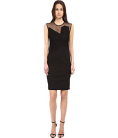 CoSTUME NATIONAL - Illusion Neckline Sheath Dress