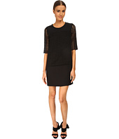 CoSTUME NATIONAL - Sheer Sleeve Shift Dress