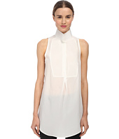 CoSTUME NATIONAL - Sleeveless Collared Blouse