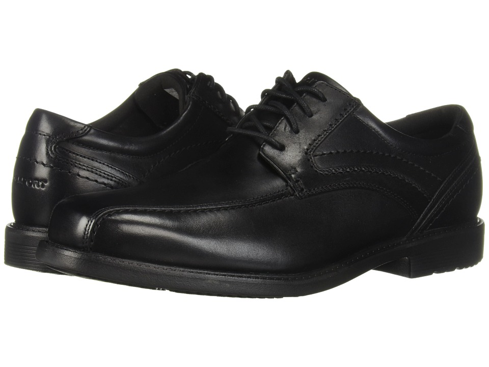 Rockport Style Leader 2 Bike Toe Oxford Black Waxed Calf Mens Lace up Bicycle Toe Shoes