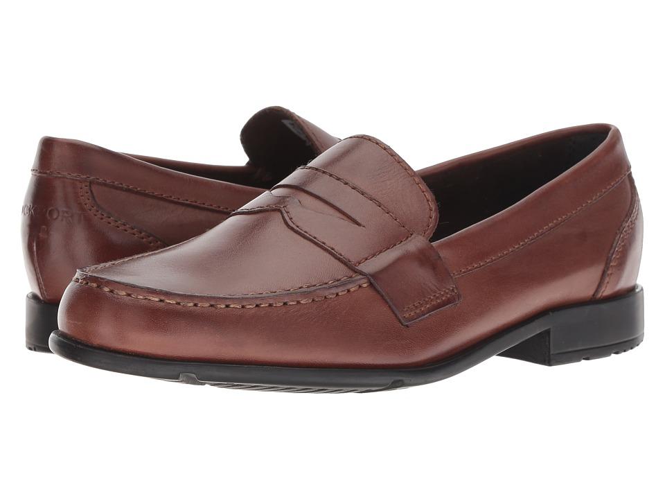 60s Mens Shoes | 70s Mens shoes – Platforms, Boots Rockport - Classic Loafer Lite Penny Dark Brown Mens Slip-on Dress Shoes $99.95 AT vintagedancer.com