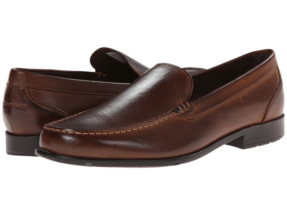 Rockport - Classic Loafer Lite Venetian (Dark Brown) Mens Slip on  Shoes