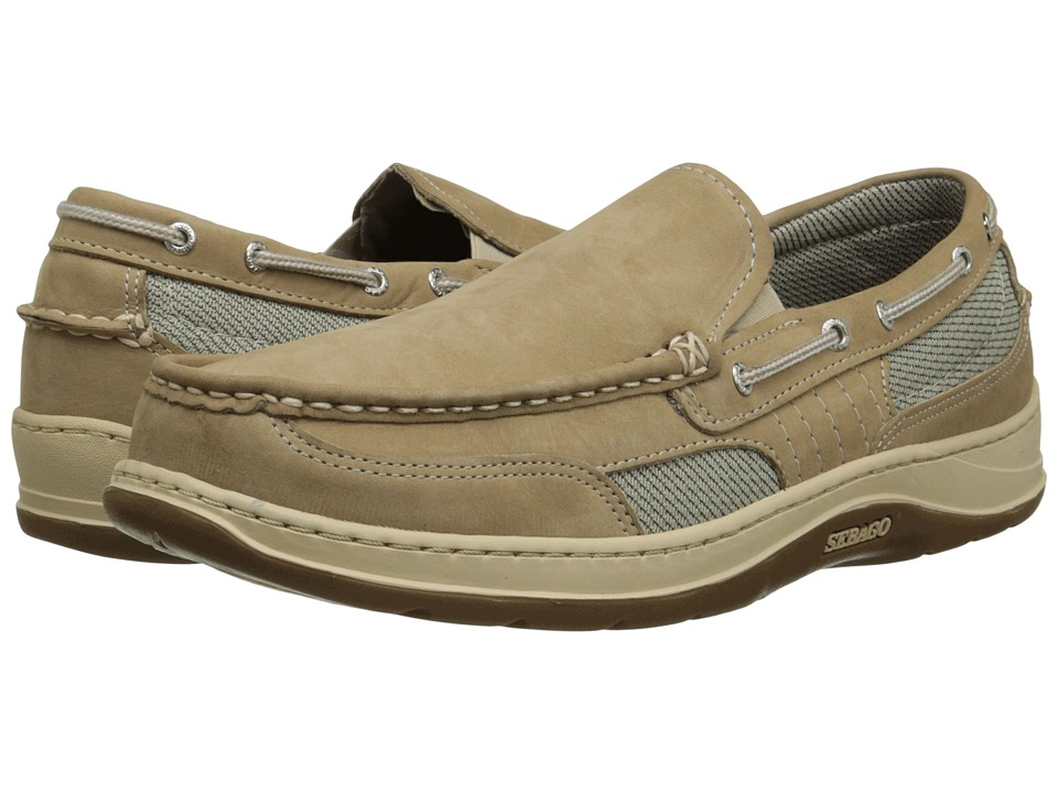 Sebago Clovehitch Slip on Taupe Nubuck Mens Slip on Shoes