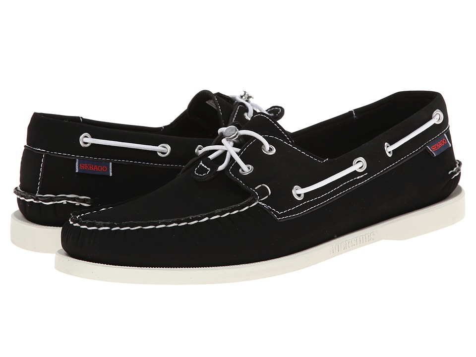 Sebago Dockside Ariaprene Black Mens Shoes