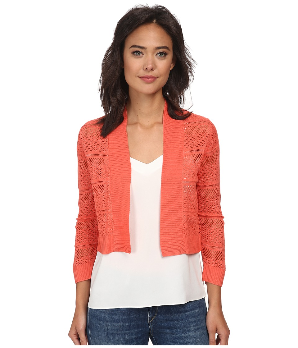 rsvp Bre Crochet Shrug Coral Womens Sweater