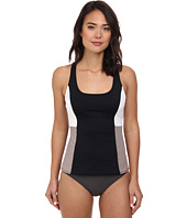 DKNY - Color Blocked Racerback Tankini Top